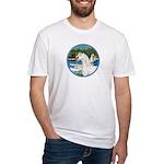 Sailboats/Arabian Horse (w) Fitted T-Shirt