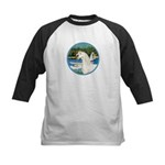 Sailboats/Arabian Horse (w) Kids Baseball Jersey