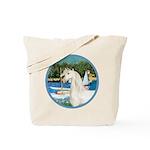 Sailboats/Arabian Horse (w) Tote Bag