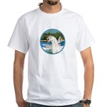 Sailboats/Arabian Horse (w) White T-Shirt