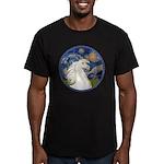 Starry/Arabian horse (w) Men's Fitted T-Shirt (dar