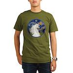 Starry/Arabian horse (w) Organic Men's T-Shirt (da