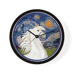 Starry/Arabian horse (w) Wall Clock