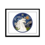 Starry/Arabian horse (w) Framed Panel Print