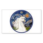 Starry/Arabian horse (w) Rectangle Sticker