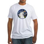 Starry/Arabian horse (w) Fitted T-Shirt