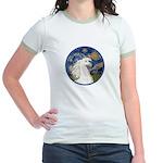 Starry/Arabian horse (w) Jr. Ringer T-Shirt