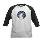 Starry/Arabian horse (w) Kids Baseball Jersey