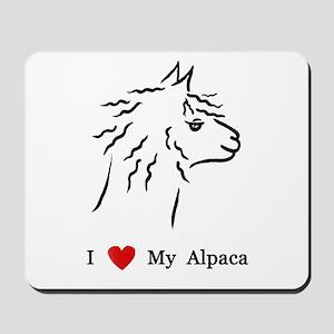 I Love My Alpaca Mousepad