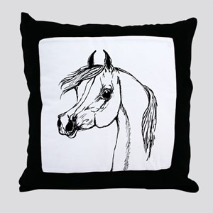 Padron Psyche Arabian Stallion Portrait Throw Pill