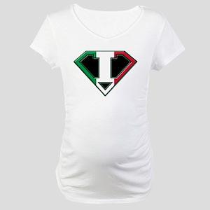 Italian superman Maternity T-Shirt
