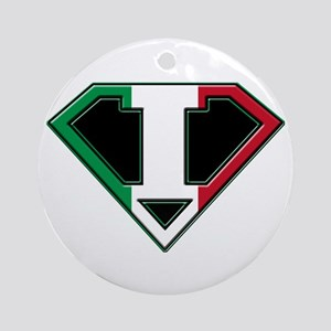 Italian superman Ornament (Round)