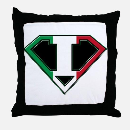 Italian superman Throw Pillow