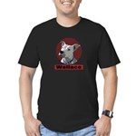 Wallace pit bull united Men's Fitted T-Shirt (dark