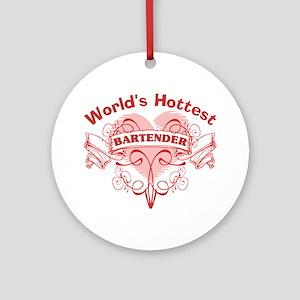 World's Greatest Bartender Round Ornament