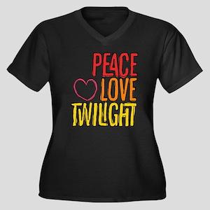 Peace Love Twilight Women's Plus Size V-Neck Dark