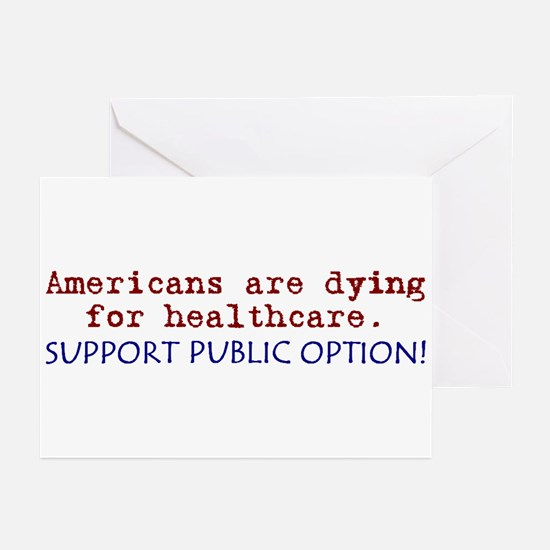 SUPPORT PUBLIC OPTION! Greeting Cards (Pk of 20)