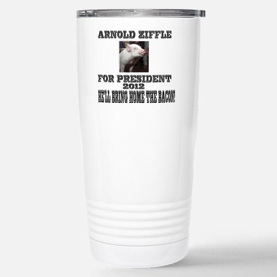 Arnold Ziffle for president 2 Stainless Steel Trav