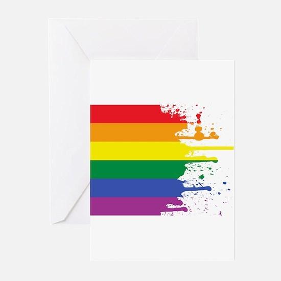 GLBT Flag (Blank) Greeting Cards (Pk of 10)
