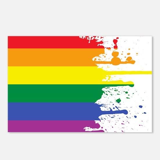 GLBT Flag (Blank) Postcards (Package of 8)