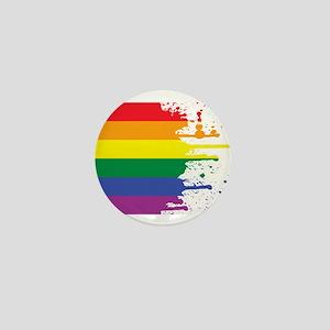 GLBT Flag (Blank) Mini Button