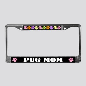 Cute Pug Mom License Plate Frame
