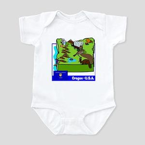 Oregon Map Infant Bodysuit