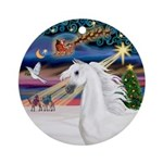 XmasMagic/Arabian Horse (W) Ornament (Round)