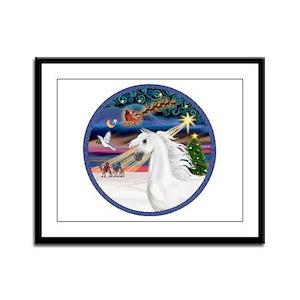 XmasMagic/Arabian Horse (W) Framed Panel Print