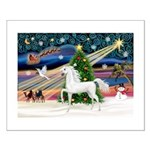 XmasMagic/Arabian Horse (W) Small Poster