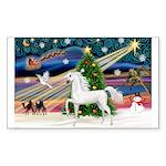 XmasMagic/Arabian Horse (W) Rectangle Sticker