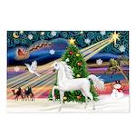 XmasMagic/Arabian Horse (W) Postcards (Package of