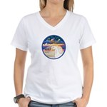 XmsStr/Horse (W2) Women's V-Neck T-Shirt