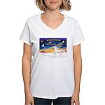 Arabian horse Women's V-Neck T-Shirt