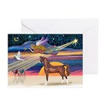 XmsStar/Horse (Ar-Br) Greeting Cards (Pk of 10)