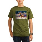 XmsStar/Horse (Ar-Br) Organic Men's T-Shirt (dark)
