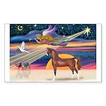 XmsStar/Horse (Ar-Br) Rectangle Sticker 10 pk)
