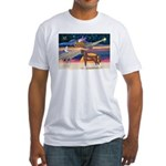 XmsStar/Horse (Ar-Br) Fitted T-Shirt