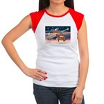 XmsStar/Horse (Ar-Br) Women's Cap Sleeve T-Shirt