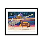 XmsStar/Horse (Ar-Br) Framed Panel Print
