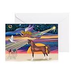 XmsStar/Horse (Ar-Br) Greeting Card