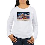 XmsStar/Horse (Ar-Br) Women's Long Sleeve T-Shirt