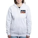XmsStar/Horse (Ar-Br) Women's Zip Hoodie