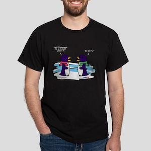 Flying Penguins Black T-Shirt