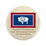 """Wyoming Proud Citizen 3.5"""" Button (100 pack)"""