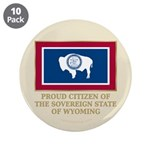 """Wyoming Proud Citizen 3.5"""" Button (10 pack)"""