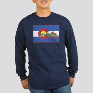 Colorado Flag Long Sleeve Dark T-Shirt