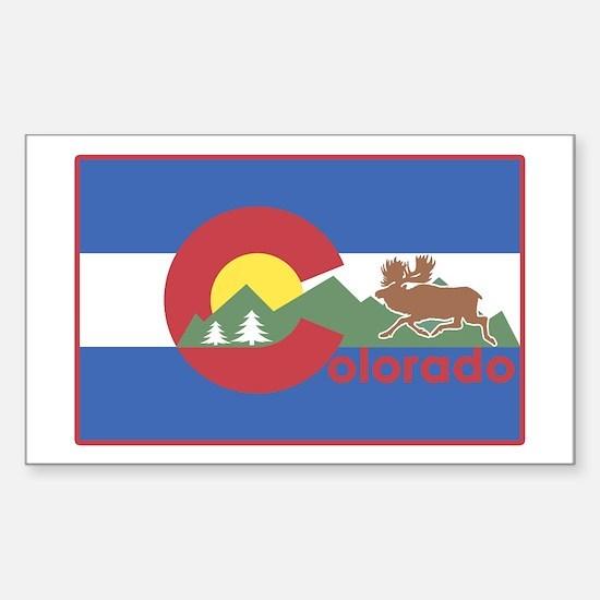 Colorado Flag Rectangle Decal