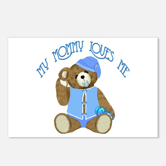 Baby Boy TeddyBear Postcards (Package of 8)
