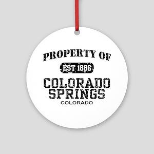 Colorado Springs Ornament (Round)